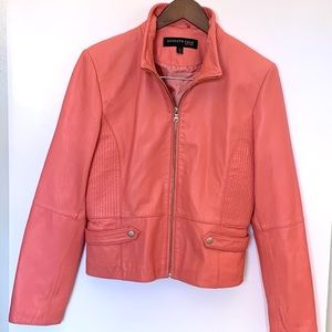 Pink Faux Leather jacket Kenneth Cole size Large